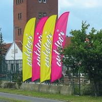 FEATHER FLAG with Cross Base