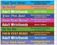 Wristbands- Large (Per 250 Pack)