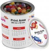 LARGE PAINT STYLE TIN WITH GOURMET JELLY BEANS