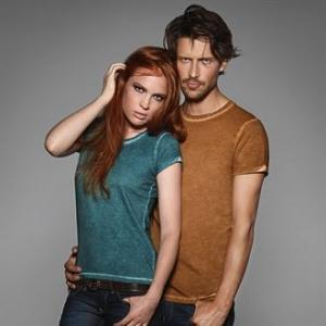 Men and Women's Denim Effect T-Shirt