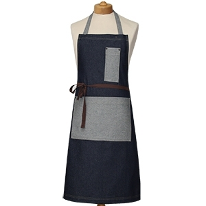 Contrast Pocket Denim Bib Apron