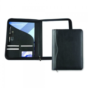 A4 PU Zipped Conference Folder
