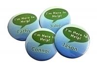 Button Name Badges