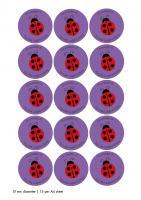 Stickers - kiss cut on sheets - 51mm diameter