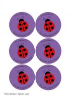 PCL Paper Stickers - 76mm diameter