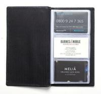CHELSEA LEATHER BUSINESS CARD FILE (96 CARD CAPACITY).