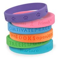 Silicon Wrist Band with raised or recessed logo