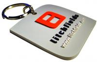 Keyring in stepped 2d Soft PVC.