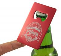 Aluminium Bottle Opener Keyring - 86*54*2MM.