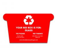 Standard Shaped Fridge Magnet - Recycling Box