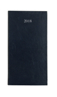 LEATHERGRAIN POCKET DIARY WITH WEEK TO VIEW PAGES