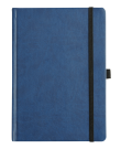 NEWHIDE A5 CASE BOUND NOTEBOOK WITH ELASTIC STRAP & RIBBON MARKER