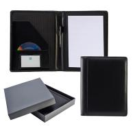 Ascot Leather A4 Deluxe Folder With Strap And Calculator