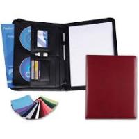 Belluno PU A4 Deluxe Zipped Conference Folder