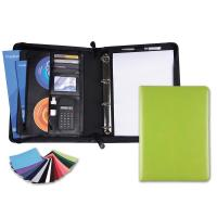 Belluno PU A4 Deluxe Zipped Conference Folder