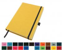 A5 Casebound Notebook with a Elastic Strap and Pen Loop in a Choice of Colours