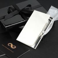 City Business Card Case - Silver Plated