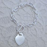 arcas silver plated chain bracelet