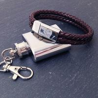 brava mens brown leather bracelet