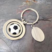 Spinning Football Keyring - Black and White