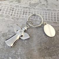 Crystal Angel Keyring