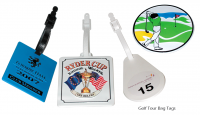 PLASTIC GOLF BAG TAG
