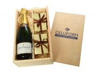 CHAMPAGNE, CHOCOLATES & TRUFFLES GIFT BOX