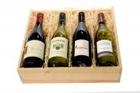 FOUR-BOTTLE WINE CRATE