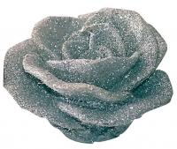 SILVER COLOUR ROSE CANDLE