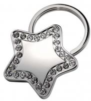 """KEYCHAIN """"""""""""""""STAR"""""""""""""""" WITH CRYSTALS"""""""""""