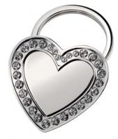 "KEYCHAIN """"""""HEART"""""""" WITH CRYSTALS"""""