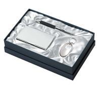 SET (3 pcs) KEY RING-BALL PEN-CARD HOLDE