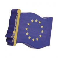 European Flag Solid Base Stress Shape