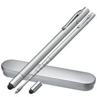 Telescope ball pen with laser pointer grey