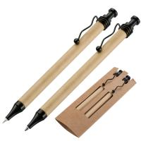 Paper pen & pencil set brown