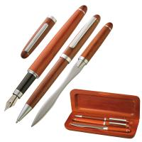 Desk set: pen brown