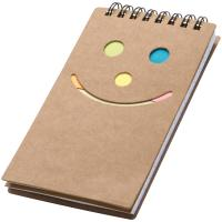 Notepad Smile face brown