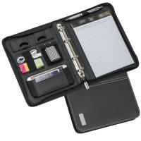 DIN A5 conference folder with ring binder black