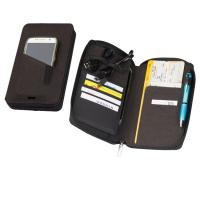 Travel wallet with powerbank black