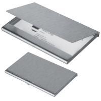 Aluminium business card holder grey