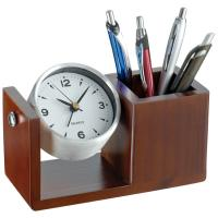 Luxurious desk clock brown