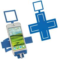 Mobile phone holder Cross blue
