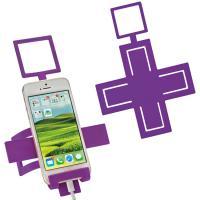 Mobile phone holder Cross violet