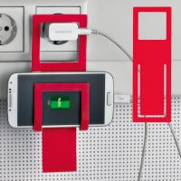 Mobile phone holder Mono red