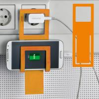 Mobile phone holder Mono orange