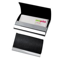 Metal business card holder black