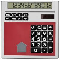 Own design calculator with insert red