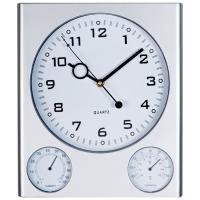 Wall clock Trio grey