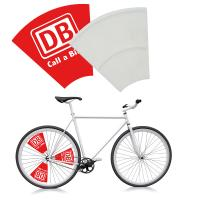 Sturdy plastic flag for bicycles ---