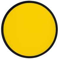 Foldable frisbee with a polyester case yellow